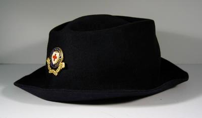 British Red Cross navy hat. With officer's hat badge, riband missing.