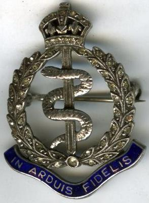 Royal Army Medical Corp badge