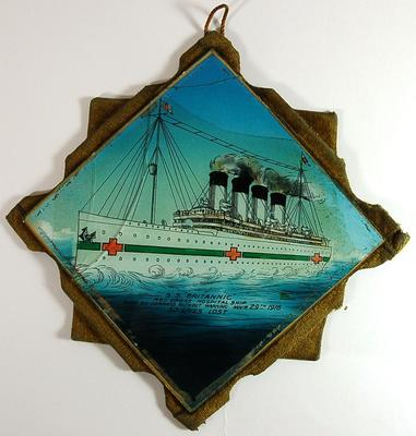 Painted glass: S S Britannic