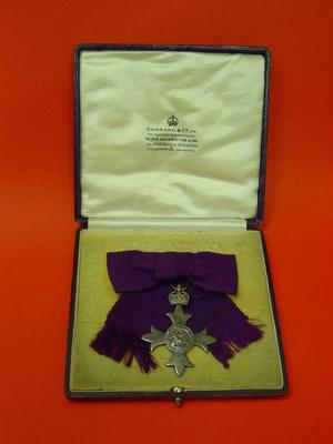 MBE with purple ribbon and seperate ribbon bar