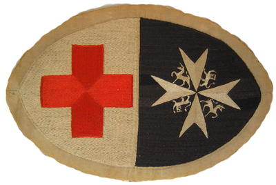 embroidered wall plaque, featuring the emblem of the Joint War Committee