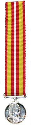 Voluntary Medical Services medal miniature