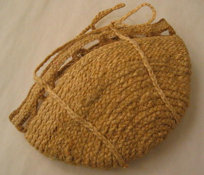 Bag made from plaited string from food pacels.