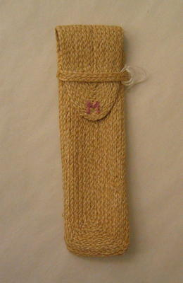 Case made from plaited string