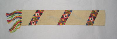 "Bookmark, with embroided lettering ""Liebenau 1944""."