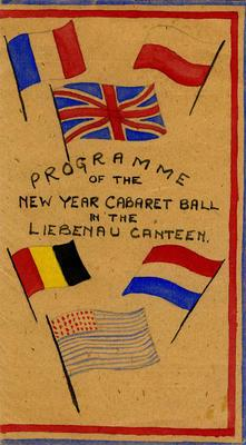 Illustrated programme of the New Year cabaret ball in the held in the Liebenau canteen