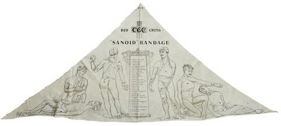 Illustrated triangular bandage