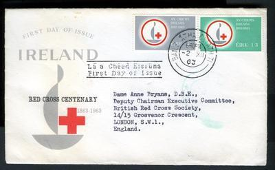 Red Cross First Day Cover: Ireland 1963