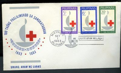 Red Cross First Day Cover: Philippines 1963