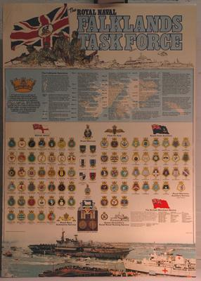 poster illustrating The Royal Naval Falklands Task Force