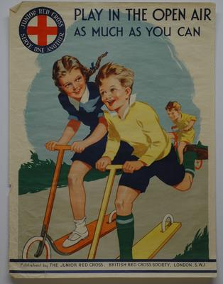 Part of the Junior Red Cross series of Health Laws poster; Printed Docs (museum)/poster; 1035/2(4)