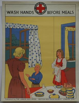 Junior Red Cross poster: Wash Hands Before Meals