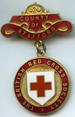 British Red Cross County of Stafford badge