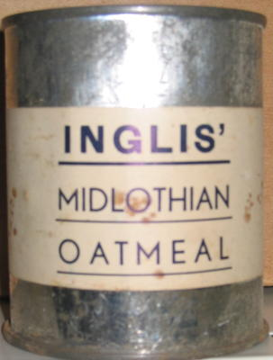 tin of Inglis' Midlothian Oatmeal