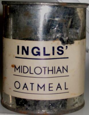 tin of Inglis' Midlothian Oatmeal