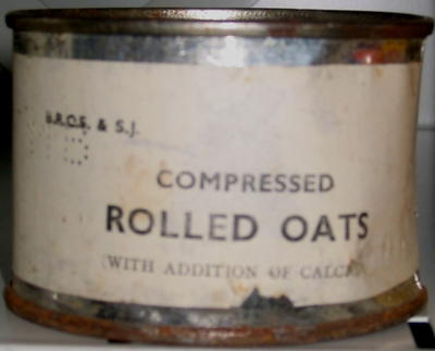 tin of compressed Rolled Oats