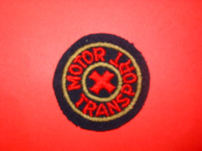 Motor Transport cloth badges