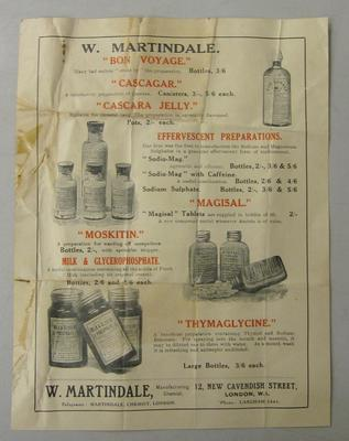 sales leaflet illustrating Martindale products