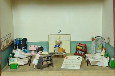 Diorama: 'St John & Red Cross Hospital Library Department'