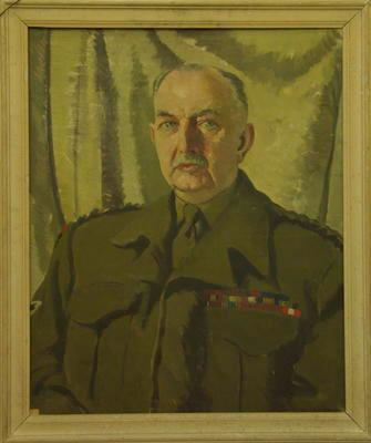 Oil painting of Major-General George Lindsay