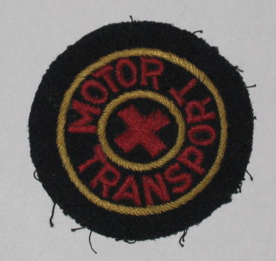 British Red Cross cloth badge: Motor Transport