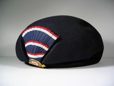 British Red Cross uniform hat with Officer's riband and hat badge