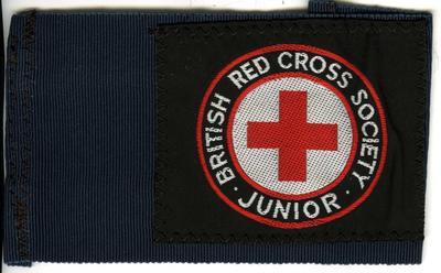 Brassard: navy petersham with cloth badge 'BRCS - Junior'