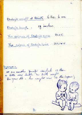 'My Baby's Book' compiled by Miss Sherman, an Anglican Missionary in Changi