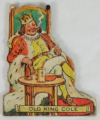 Old King Cole cut out figure