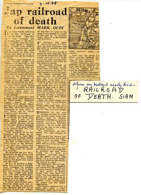 Extract from the Evening Standard of 4 Oct 1945