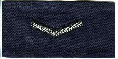 Navy blue cotton with 1 chevron: Lance Section Leader