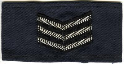 Navy blue cotton with 3 chevrons: Section Leader