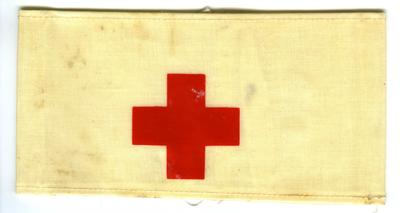 Plastic brassard/armlet with Red Cross emblem