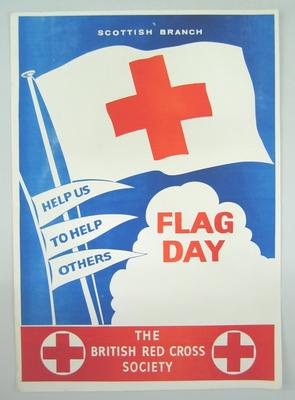 poster advertising a Scottish Branch Flag Day