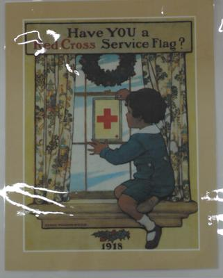 American Red Cross publicity poster, 'Have YOU a Red Cross Service Flag?'.