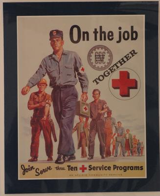 American Red Cross and American Federation of Labor & Congress of Industrial Organization recruitment poster