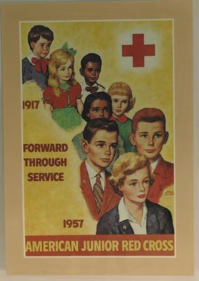 American Junior Red Cross publicity poster, 'Forward Through Service'.