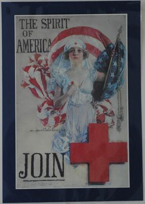American Red Cross recruitment poster, 'The Spirit of America'.