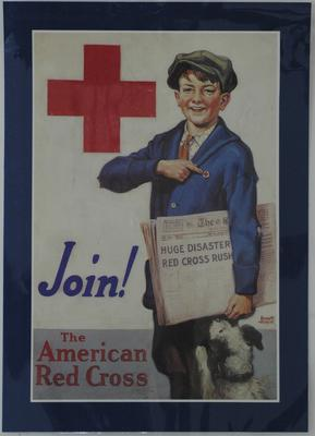 American Red Cross recruitment poster, 'Join! The American Red Cross'.