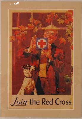 American Red Cross recruitment poster, 'Join the Red Cross'.