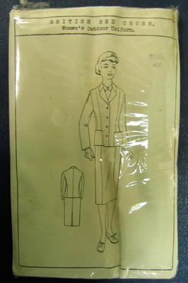 Paper pattern. British Red Cross Women's Outdoor Uniform. Bust 42""