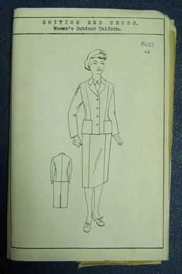 "Paper pattern. British Red Cross Women's Outdoor Uniform. Bust 44"""