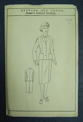Paper pattern. British Red Cross Women's Outdoor Uniform. Bust 46""