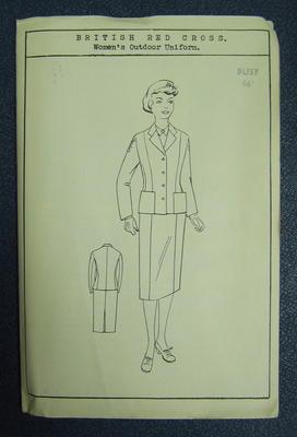 "Paper pattern. British Red Cross Women's Outdoor Uniform. Bust 46"""