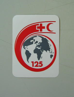 sticker: ICRC's 125th anniversary