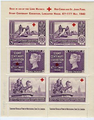Set of stamps sold in aid of the Lord Mayor's Red Cross and St John Fund