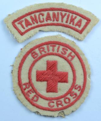 British Red Cross and Tanganyika cloth insignia