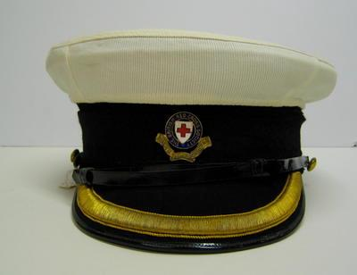 Vice President's peaked cap with white cover