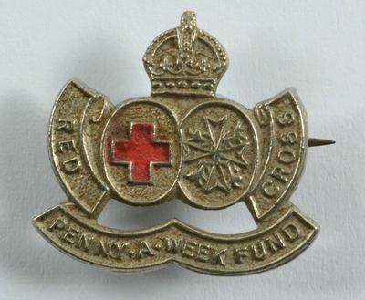 Penny-a-Week Fund badge (silver coloured).