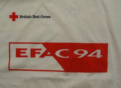 t-shirt: 'EFAC 94'